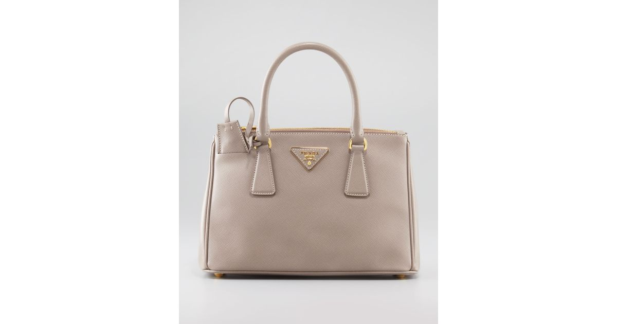 01927c600617 ... low price lyst prada mini saffiano lux tote bag in pink 93375 6b72e