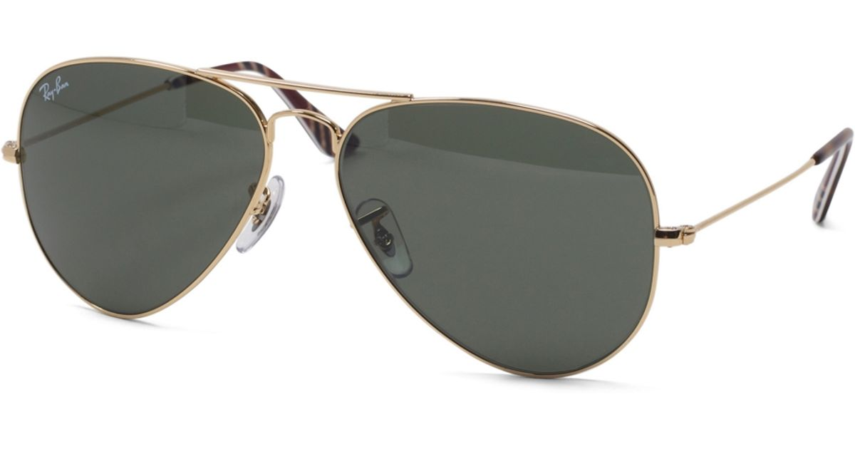 95a1a771326 Lyst - Brooks Brothers Ray-Ban® Aviator Sunglasses With Burgundy Bb 1 Repp  Stripe in Metallic for Men