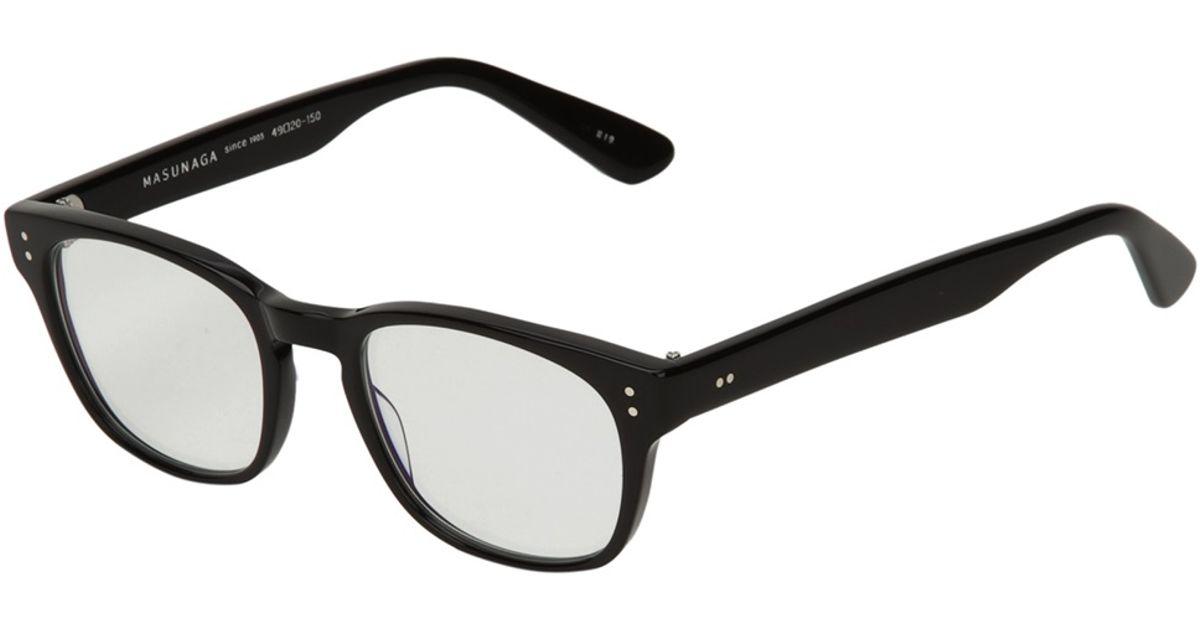 db29c66e5f3 Lyst - Masunaga Round Frame Sunglasses in Black for Men