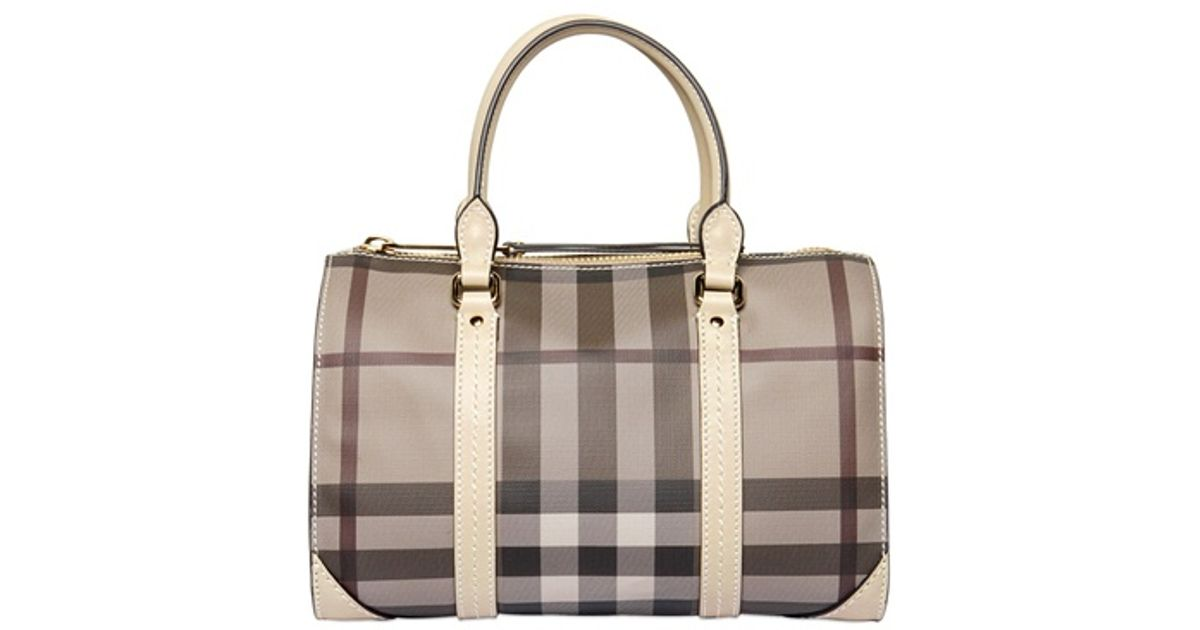 b483a46fb462 Lyst - Burberry Small Chester Smoked Check Bag in Gray