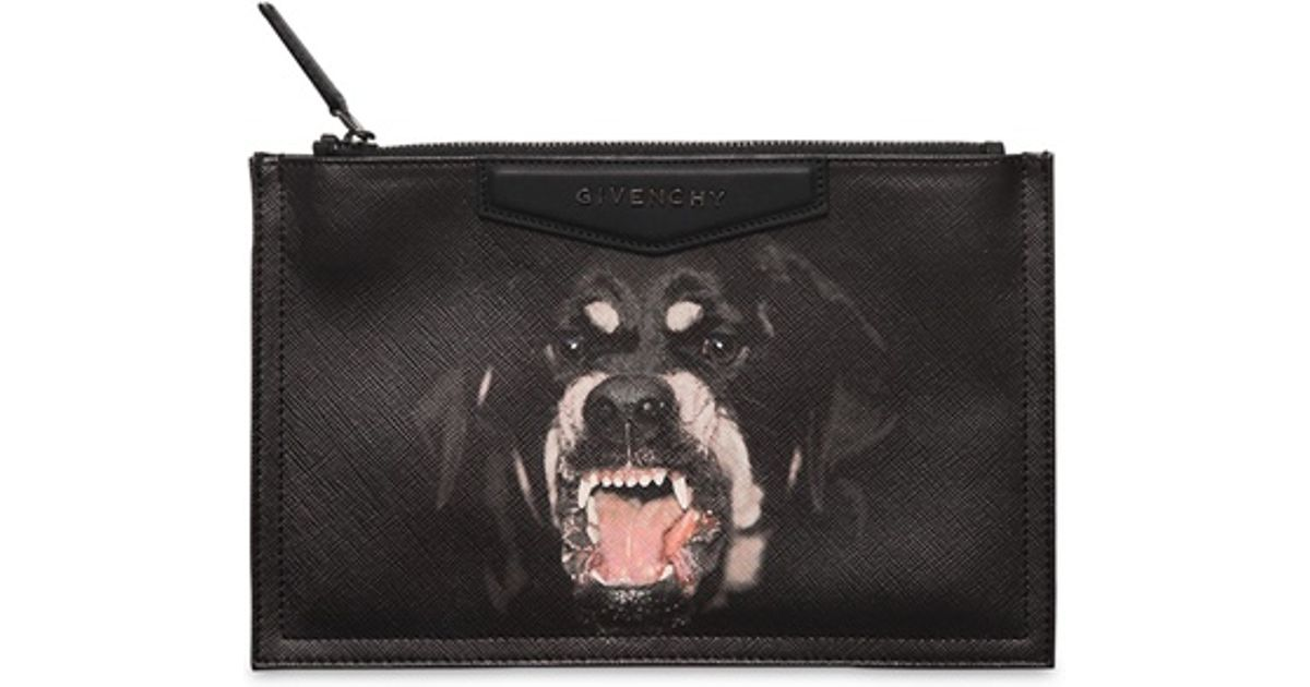 Best Quality Mens Bags Givenchy Rottweiler Print Backpack 2017. Lyst  Givenchy Large Rottweiler Pouch In Black f587282d9688d