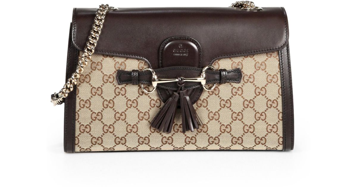 79ef3f699b6a Gucci Emily Original Gg Canvas Chain Shoulder Bag in Natural - Lyst