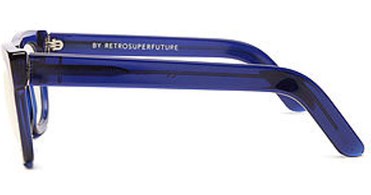 d75f8b89f7db Lyst - Retrosuperfuture The Ciccio Glasses in Blue