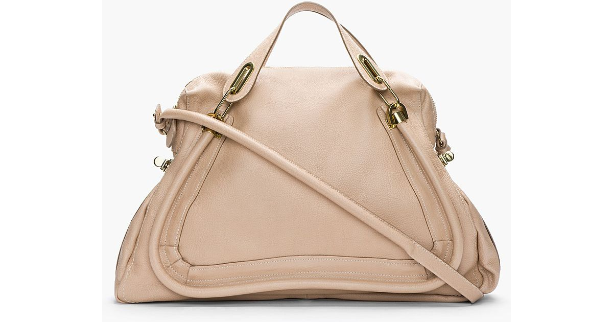 Chlo¨¦ Beige Pebbled Leather Large Paraty Bag in Beige | Lyst