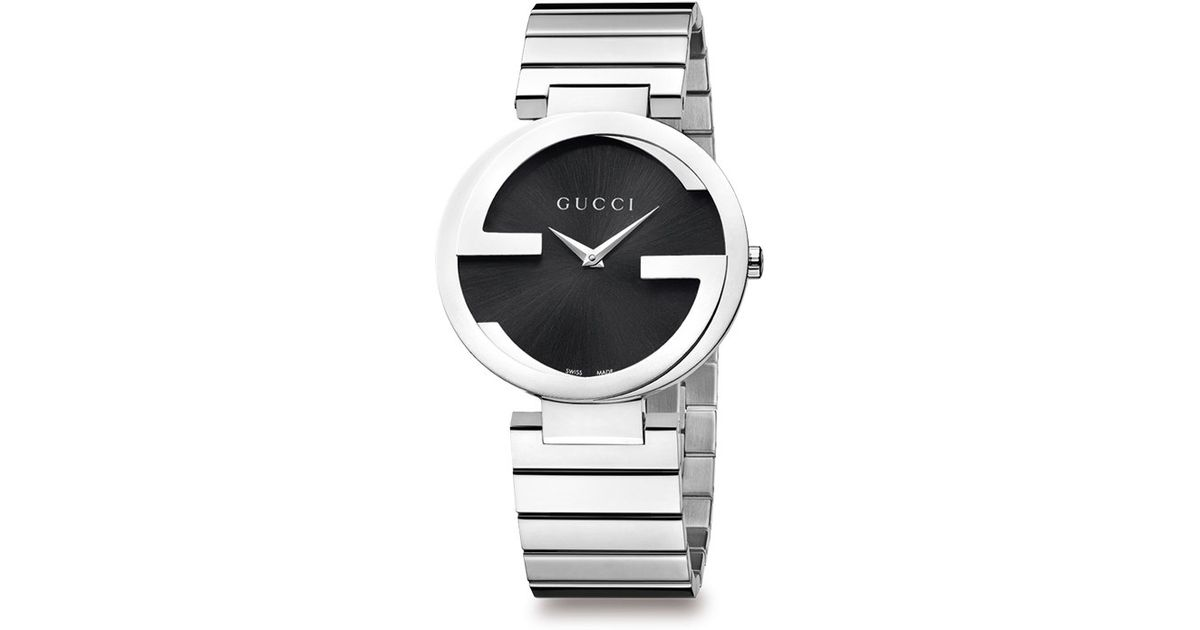 286c155c784 Lyst Gucci Stainless Steel Double G Link Bracelet Watch In Metallic