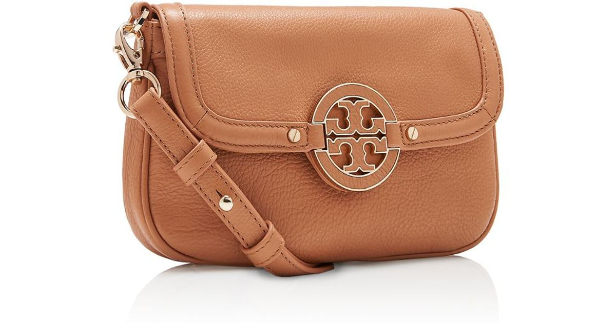 0f87e88d128 Lyst - Tory Burch Amanda Classic Crossbody in Brown