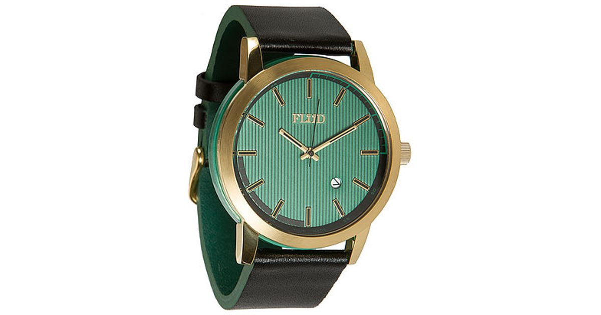 flud exchange watch black teal