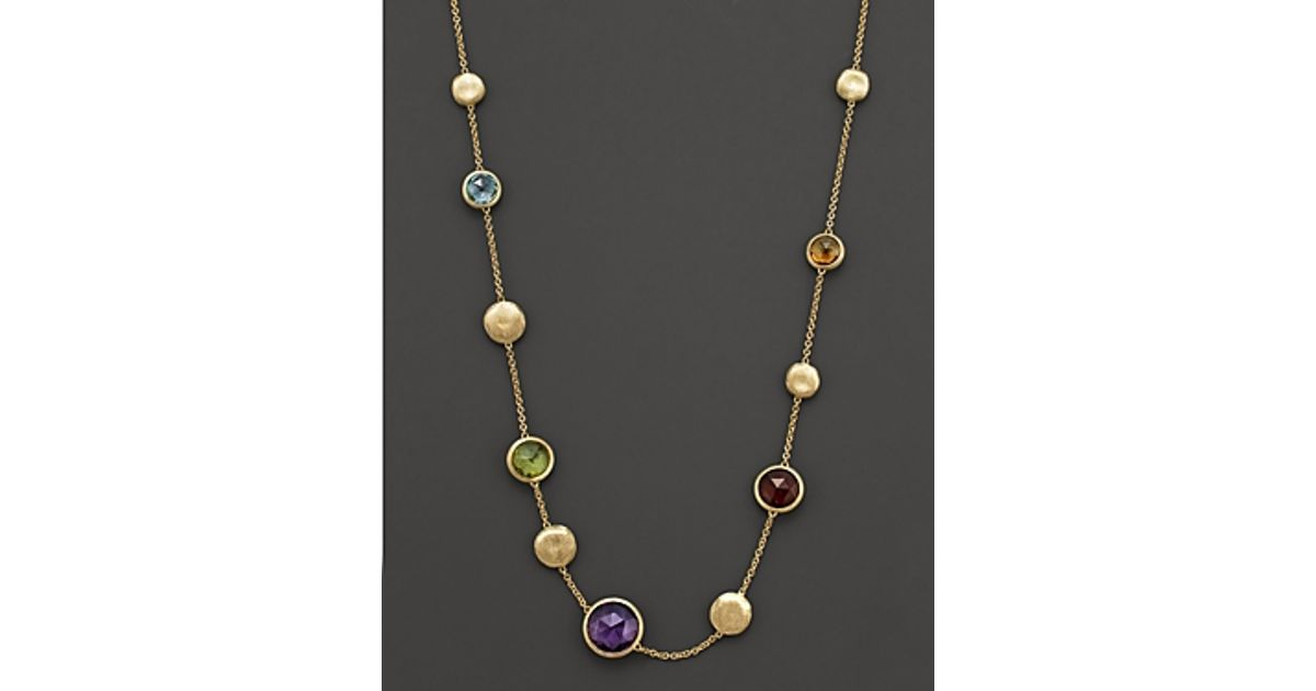 luxe jewelry boho precious april lila products semi the necklace