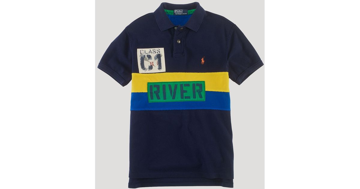 bd3b2f885 ... wholesale lyst ralph lauren polo custom fit shortsleeved rafting guide  mesh polo in blue for men
