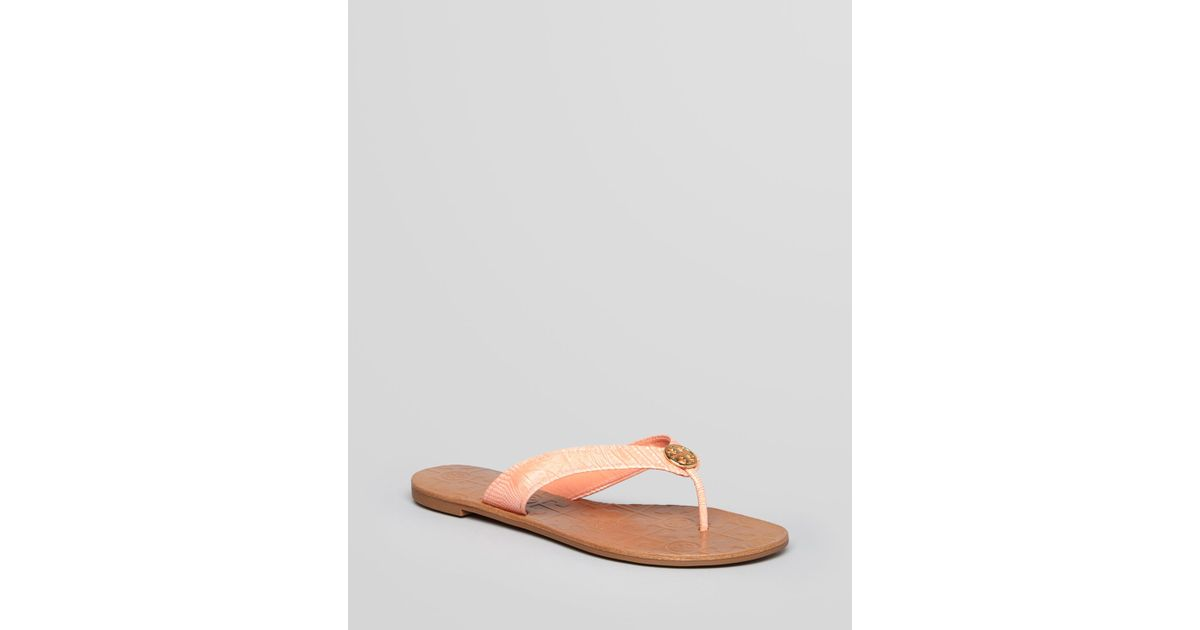 10711c88628d Lyst - Tory Burch Thong Sandals Thora 2 in Pink