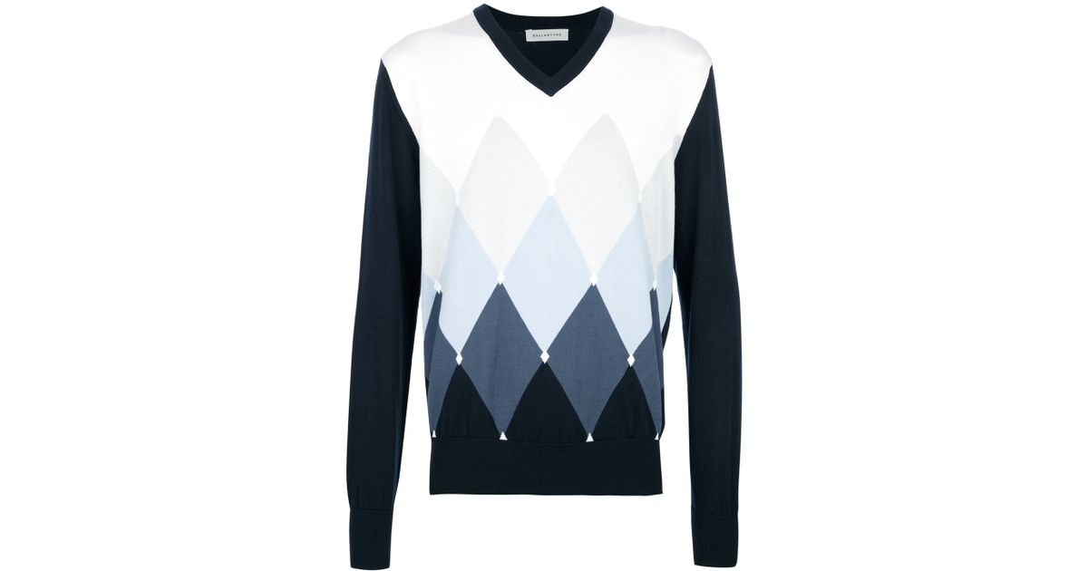 Ballantyne diamond print jumper Clearance Pay With Paypal Shop Offer For Sale Clearance Affordable Footlocker Pictures Cheap Online 8ccO6