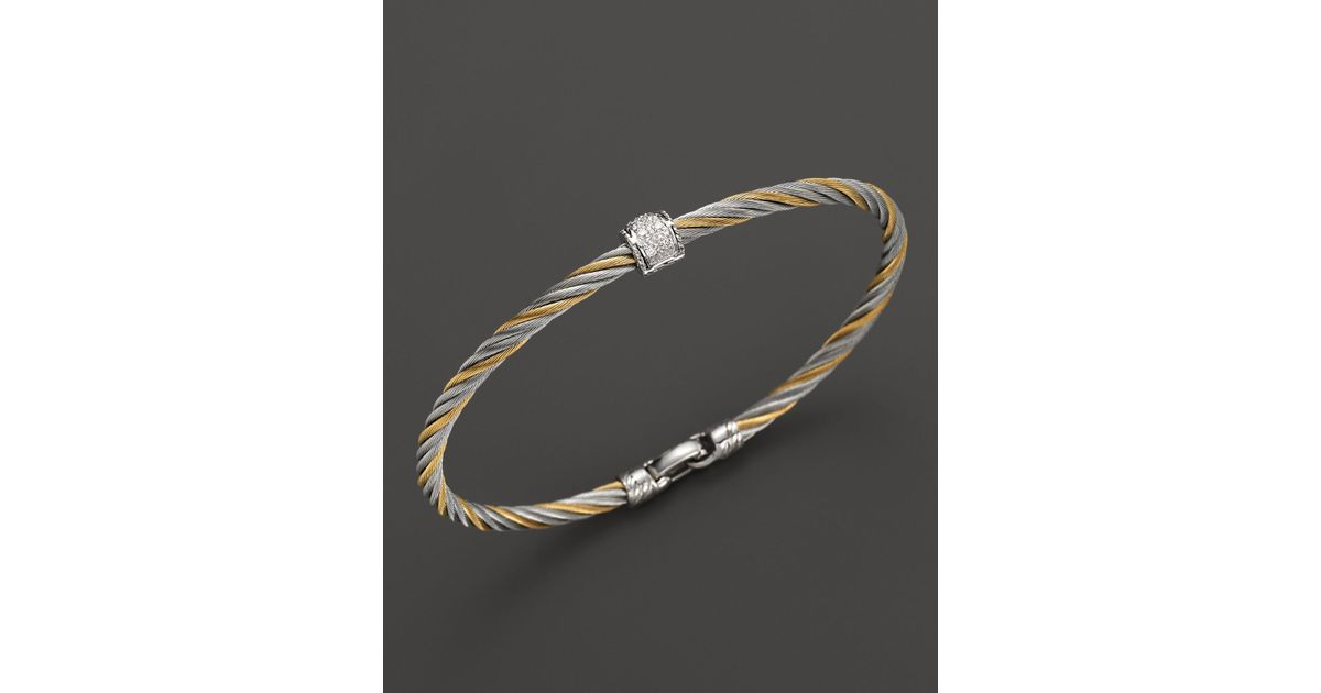 david bracelet yellow bangles cable pearl classics sterling gold yurman silver