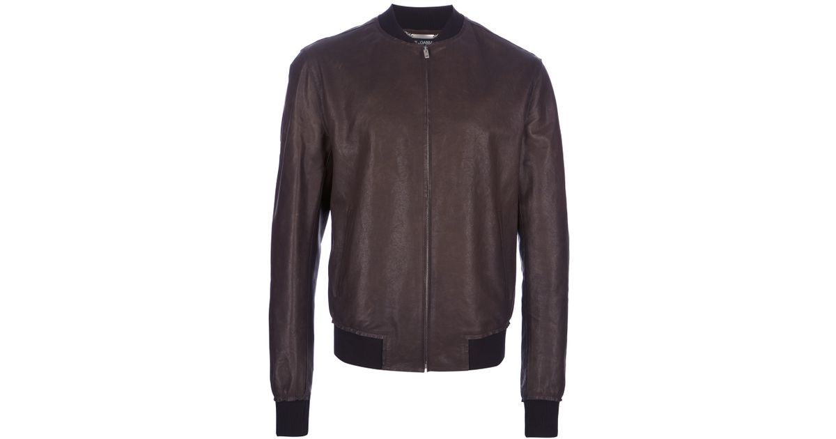 d13ac75116 Light In Zipup Dolce Brown Lyst For Gabbana Men Leather amp  Jacket 4tn0C