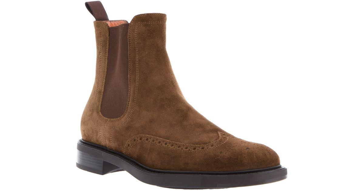 92d925434de90 Santoni Beatles Boot in Brown for Men - Lyst