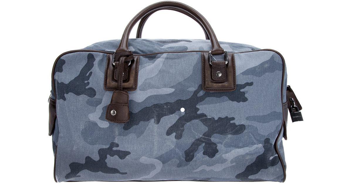 2a054ce2148b Lyst - Dolce   Gabbana Printed Duffle Bag in Gray