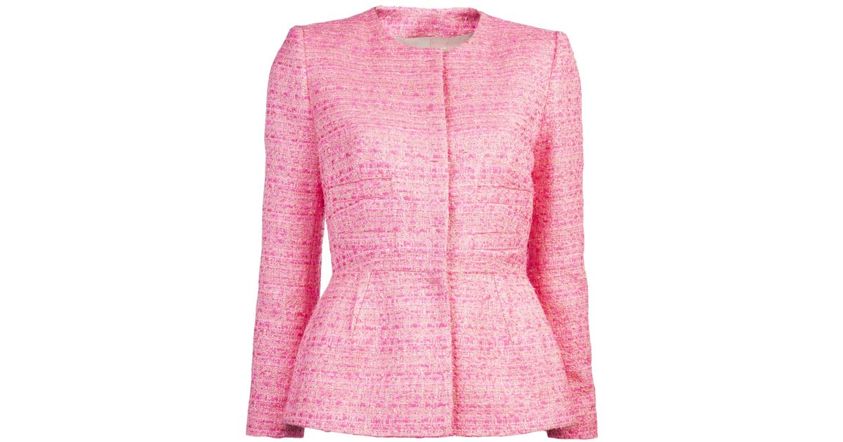 Giambattista valli Fluorescent Tweed Jacket in Pink   Lyst
