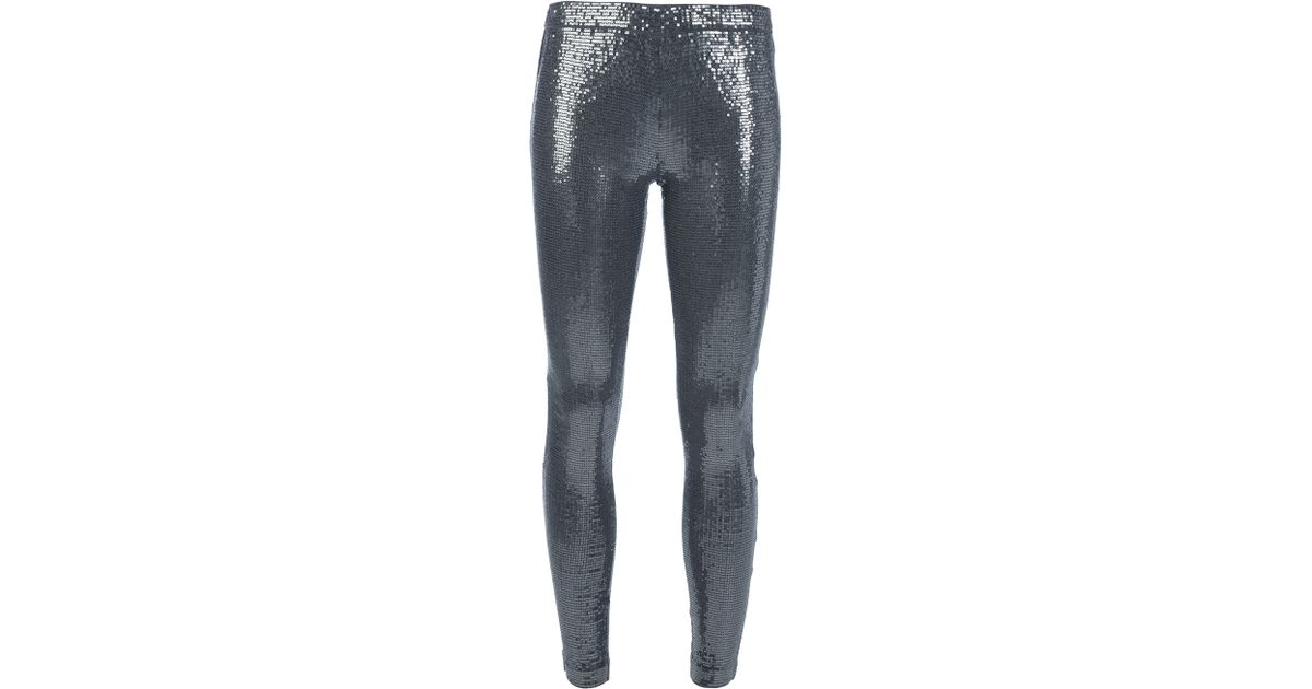 5aa5c25c93dc4 Michael Kors Sequin Legging in Black - Lyst