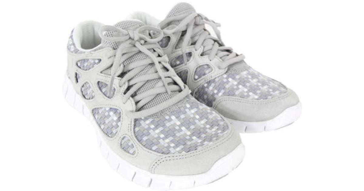Full Styles Nike Mens Nike Free Run 2 Woven pure platinum