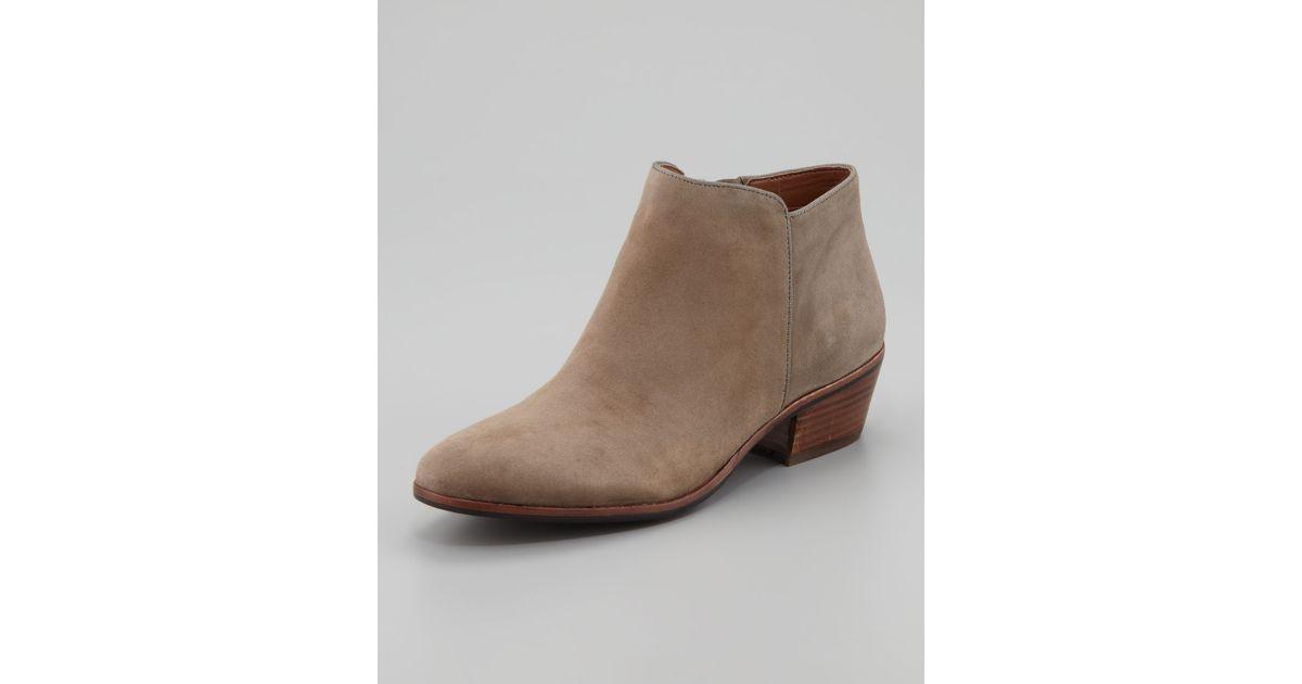 9eaa2daa2ced96 Lyst - Sam Edelman Womens Petty Suede Ankle Boot Tan in Brown