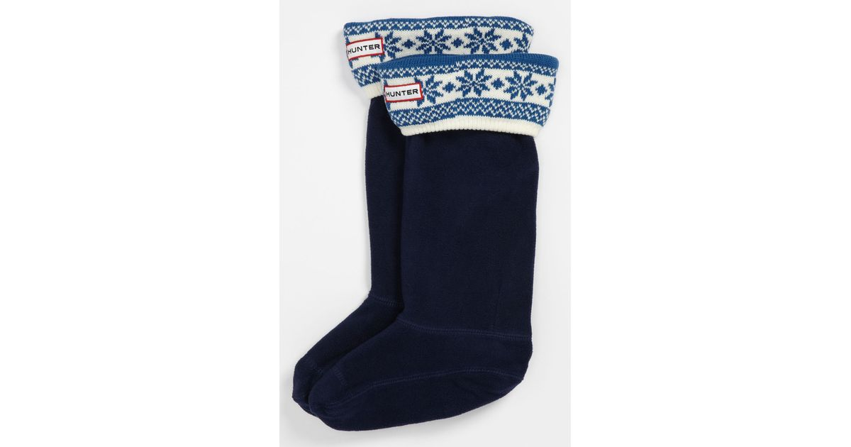 Lyst - Hunter Fair Isle Welly Socks in Blue
