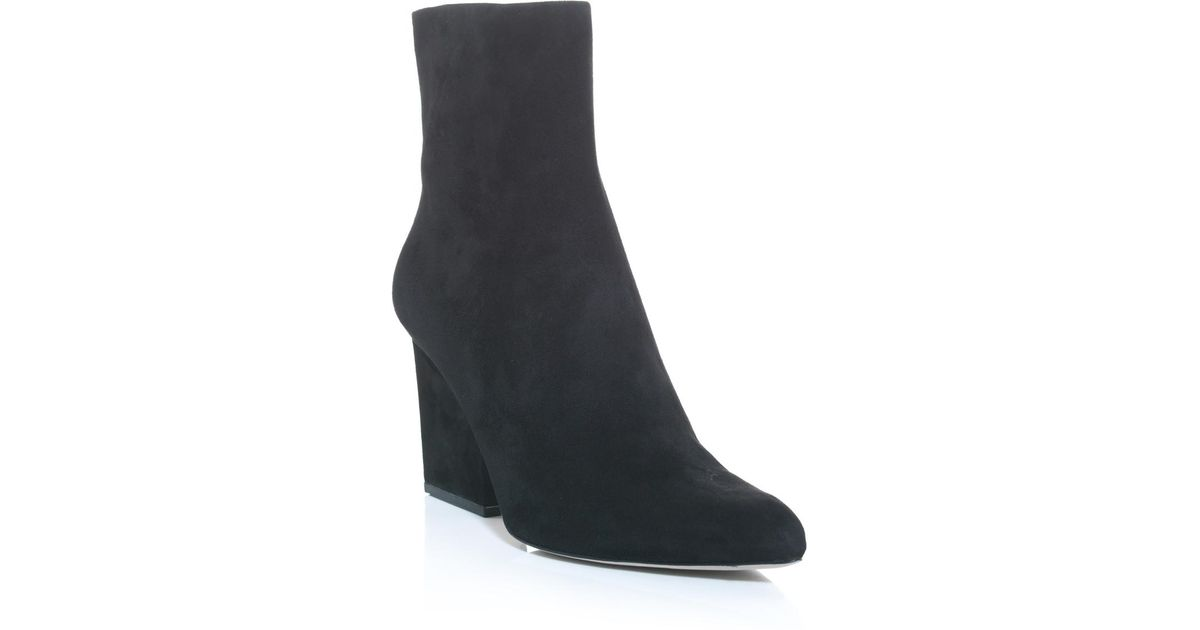 976e2fcad81d Lyst - Alexander Wang Sunniva Suede Ankle Boots in Black