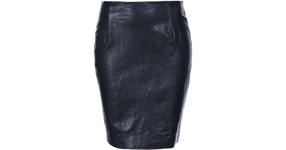 Navy blue leather pencil skirt – Modern trending things photo blog