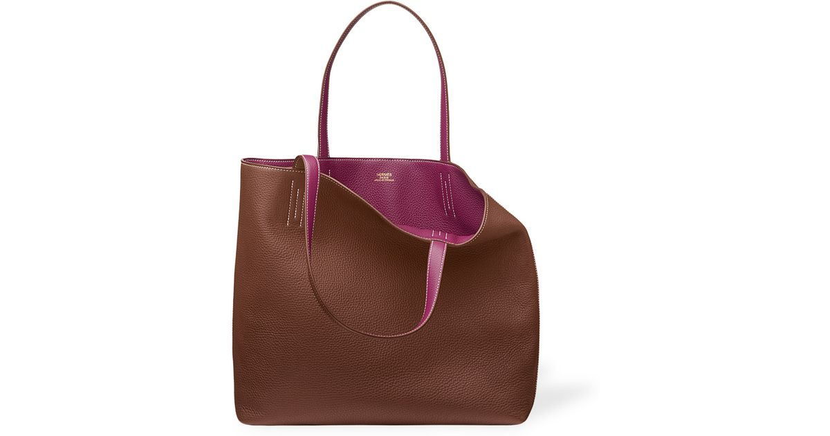 cheap hermes bags sale - Herm��s Double Sens in Brown (horse chestnut/Tosca pink) | Lyst