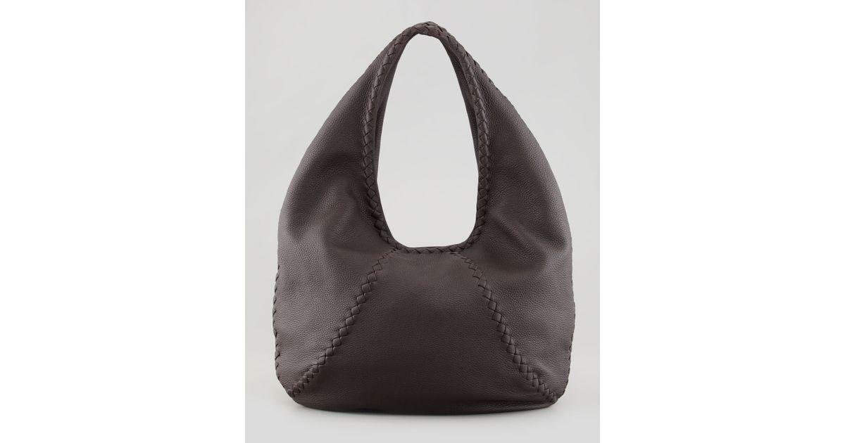 8d4272c915 Lyst - Bottega Veneta Cervo Large Hobo Bag in Brown