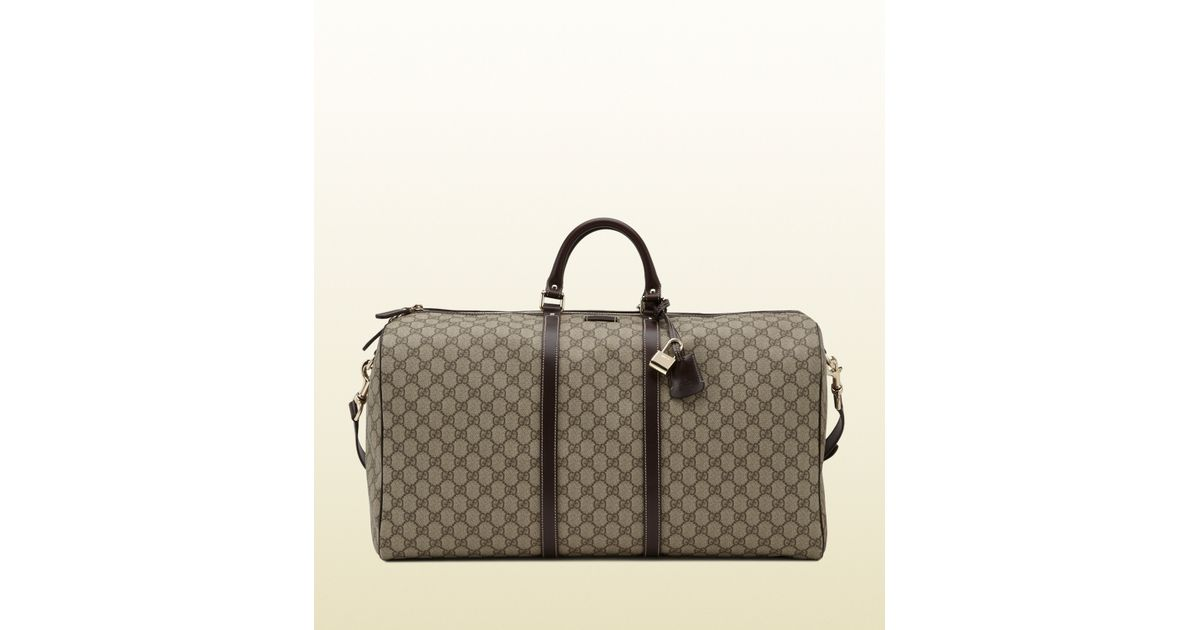 Gucci Large Carry-on Duffle Bag in Brown for Men (beige) | Lyst