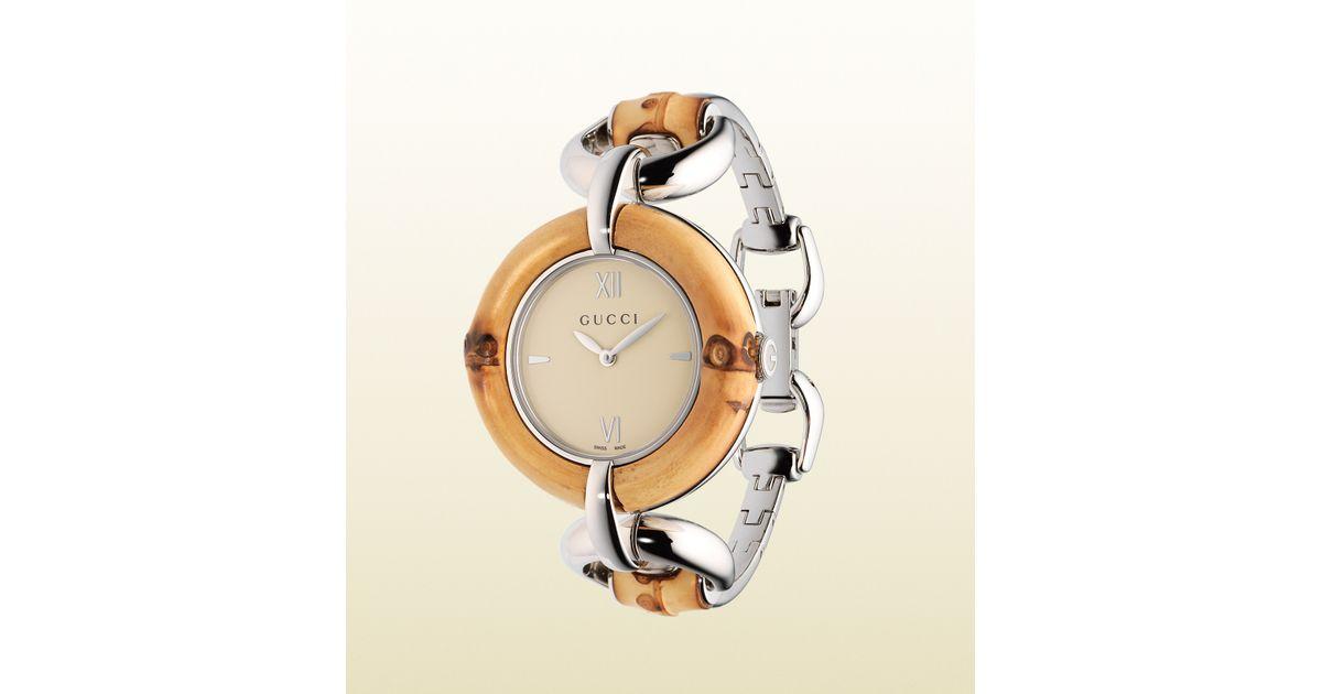 188da4f4857 Lyst - Gucci Bamboo Watch Love Organization Special Edition in Natural