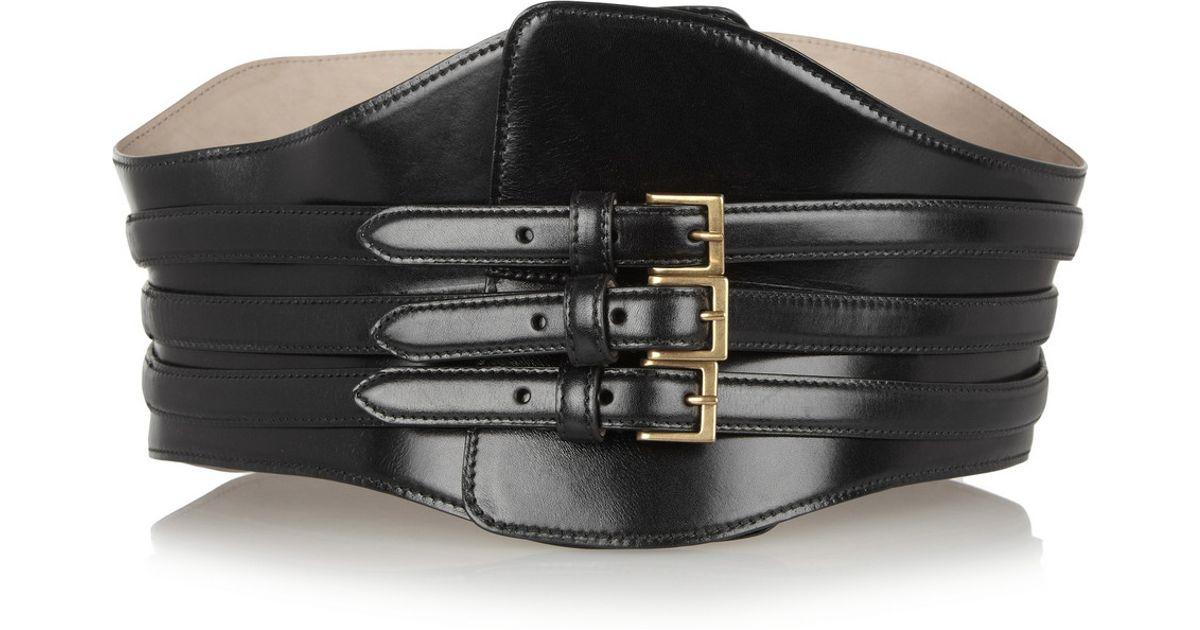 Leather Waist Belt - Black Alexander McQueen UoifIWnk