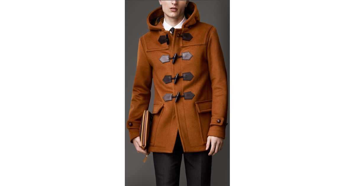 d3bf76ae4 Burberry Seam Detail Duffle Coat in Brown for Men - Lyst