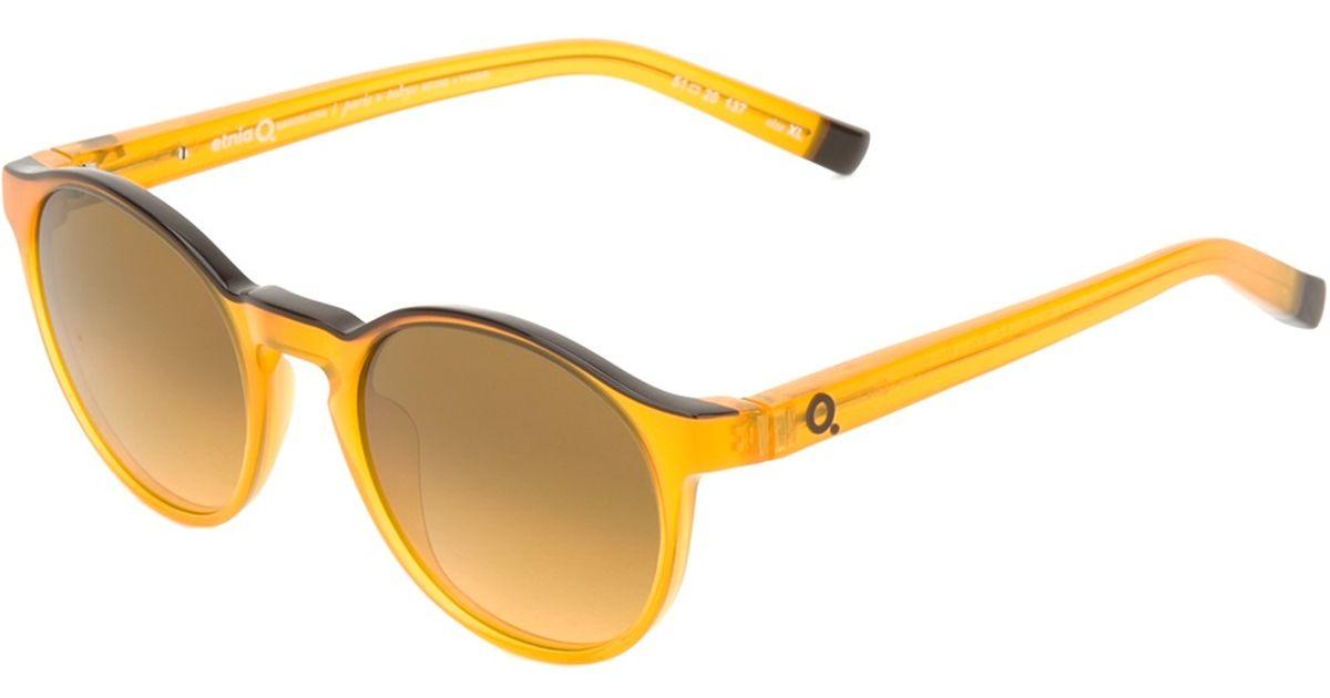 Lyst - Etnia Barcelona Round Frames Sunglasses in Yellow