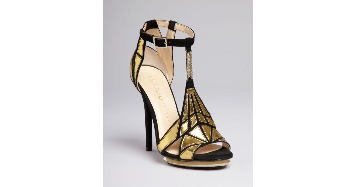 Lyst boutique 9 platform evening sandals orseena art for Boutique deco