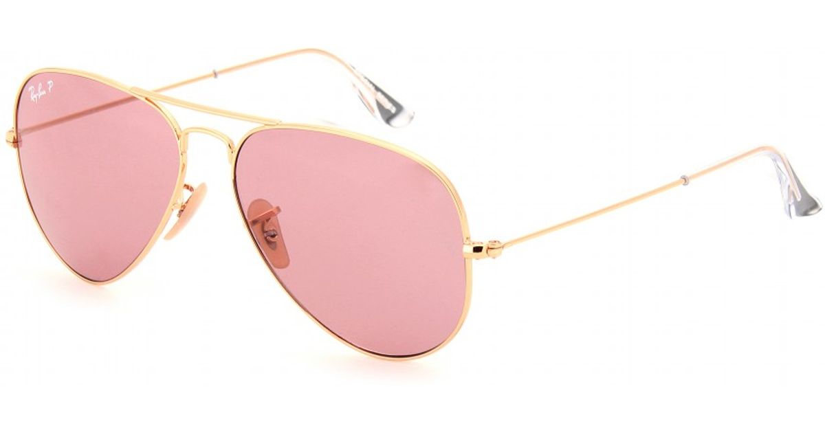 Lyst - Ray-Ban Aviator Large 58 Metal Sunglasses in Metallic