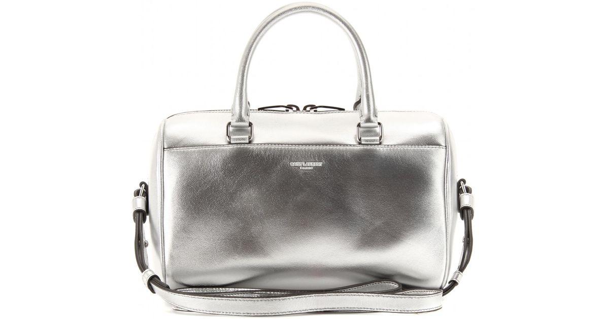 c848c8922e Lyst - Saint Laurent Duffle 3 Mini Leather Bowling Bag in Metallic