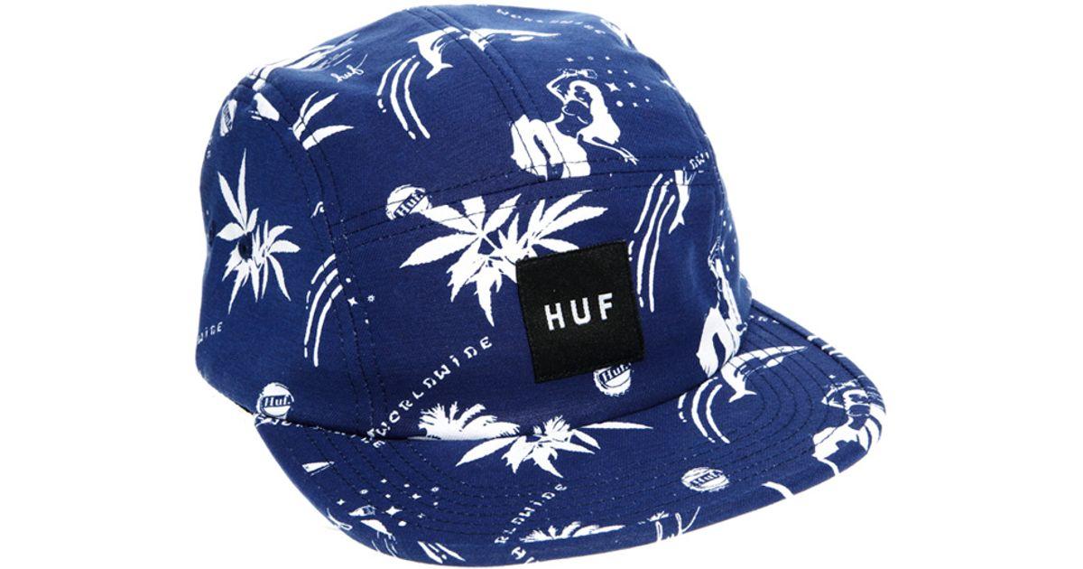 b94a3de110819 ... store lyst huf drunk aloha volley cap in blue for men 49cdf 9949f
