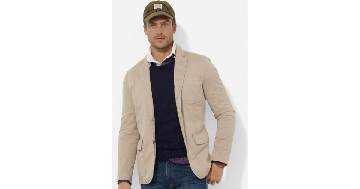 Polo ralph lauren Langley Chino Sport Coat in Natural for Men | Lyst