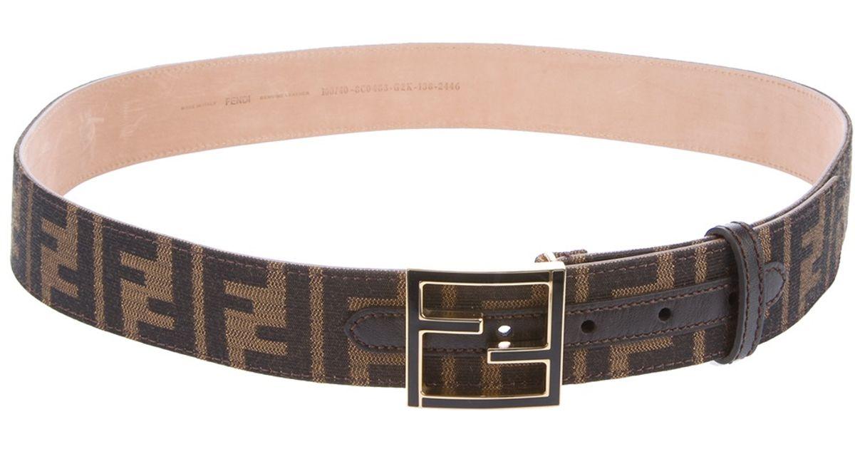 faebb86b0 Fendi Monogram Belt in Brown for Men - Lyst