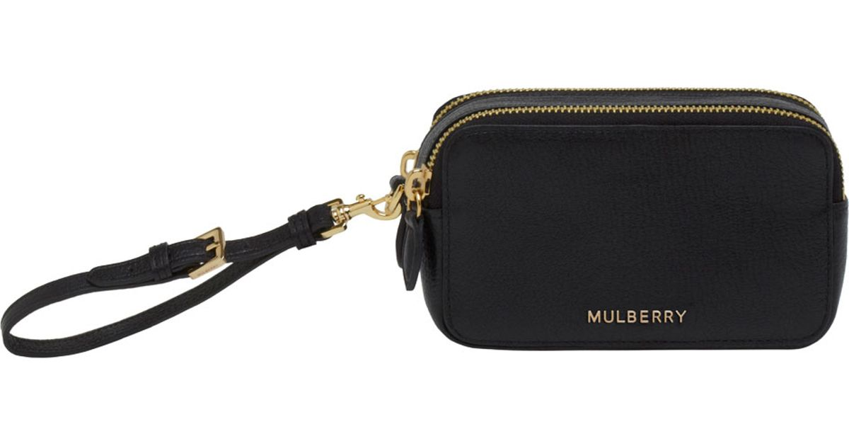 c2970fff7ea Mulberry Wristlet Pouch in Black - Lyst