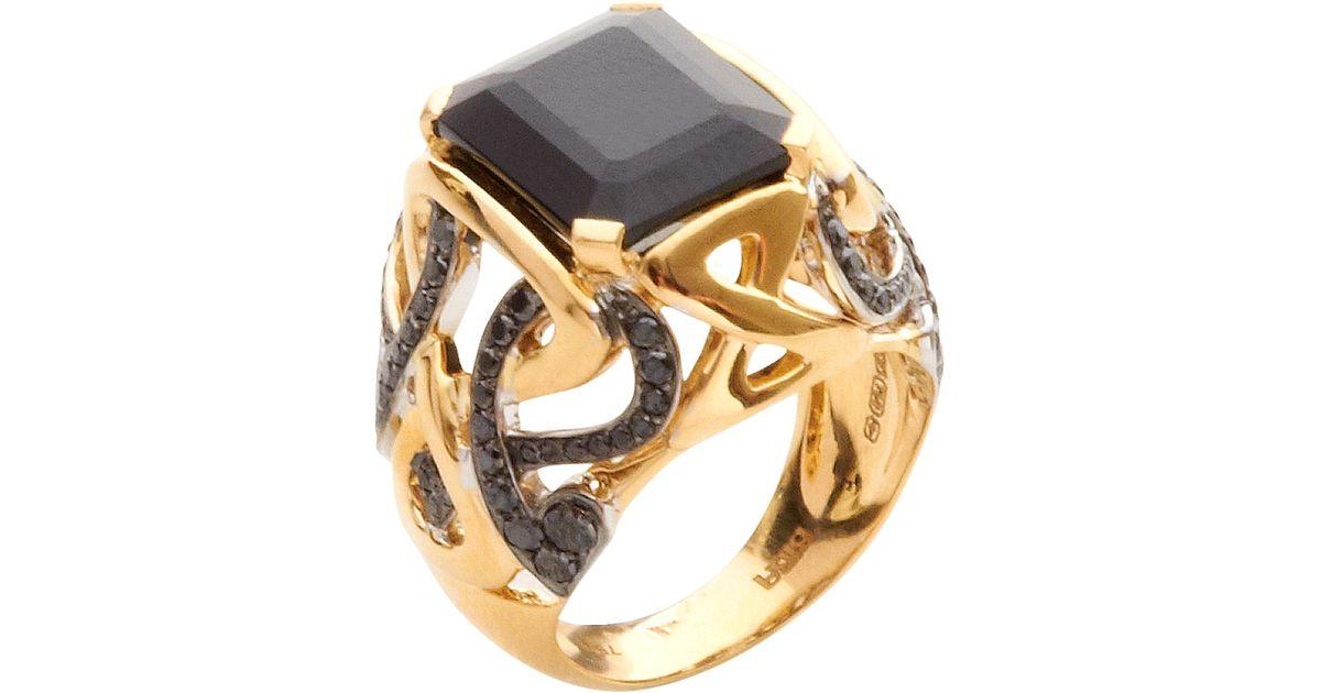 black stone gold ring - photo #43