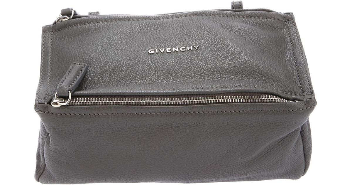 270ca7482cd Givenchy Pandora Mini Bag in Gray - Lyst