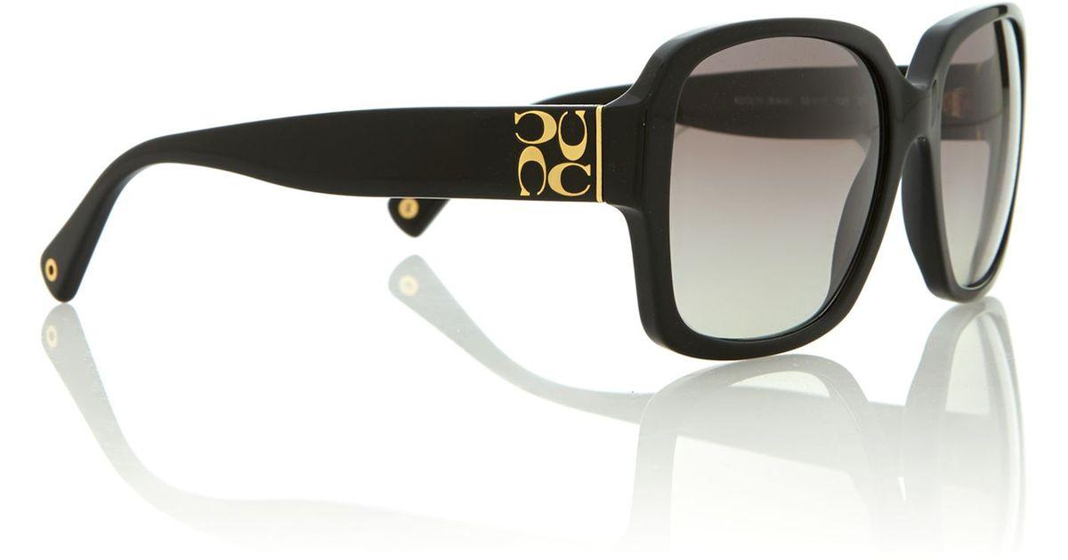 67fa40fc947a ... netherlands lyst coach ladies black square sunglasses in black 91e1a  d68e1