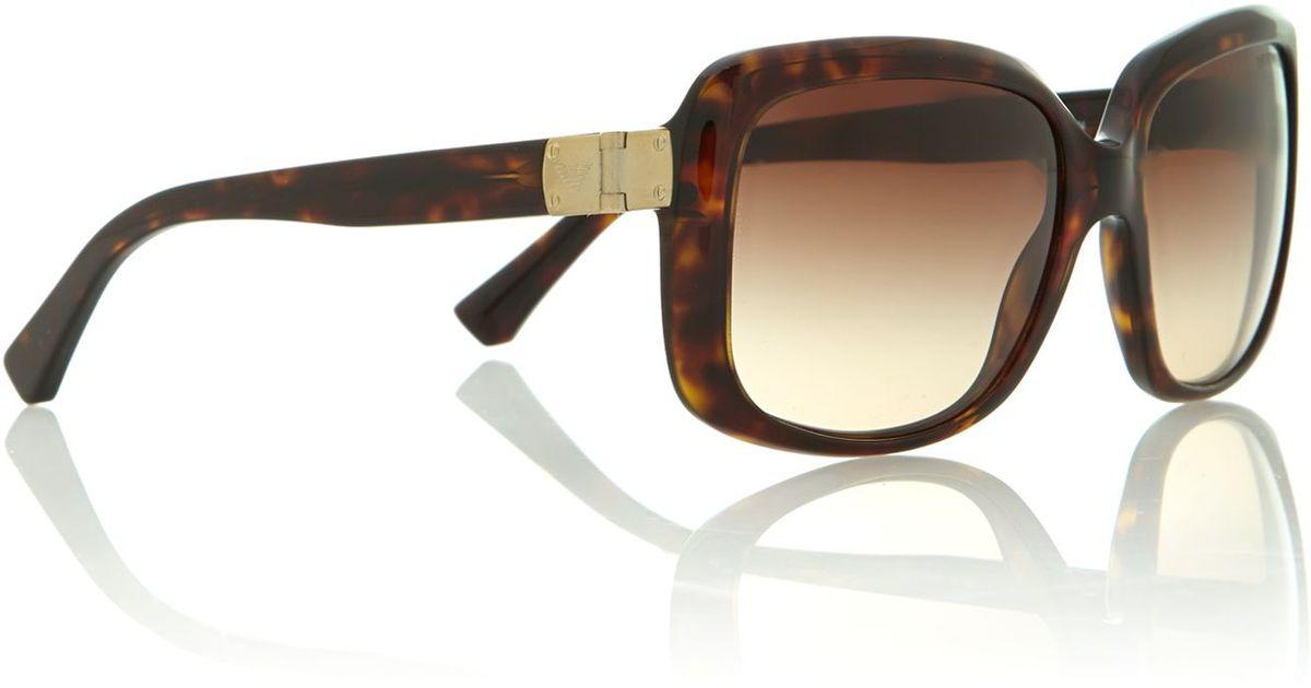2924e18f1c10 Emporio Armani Mens Sunglasses in Brown for Men - Lyst