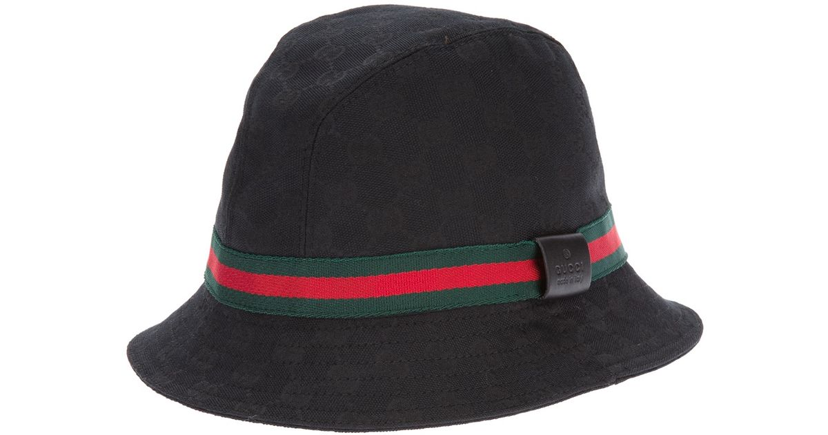 cb658a0b3a2 Lyst - Gucci Logo Fedora in Black for Men