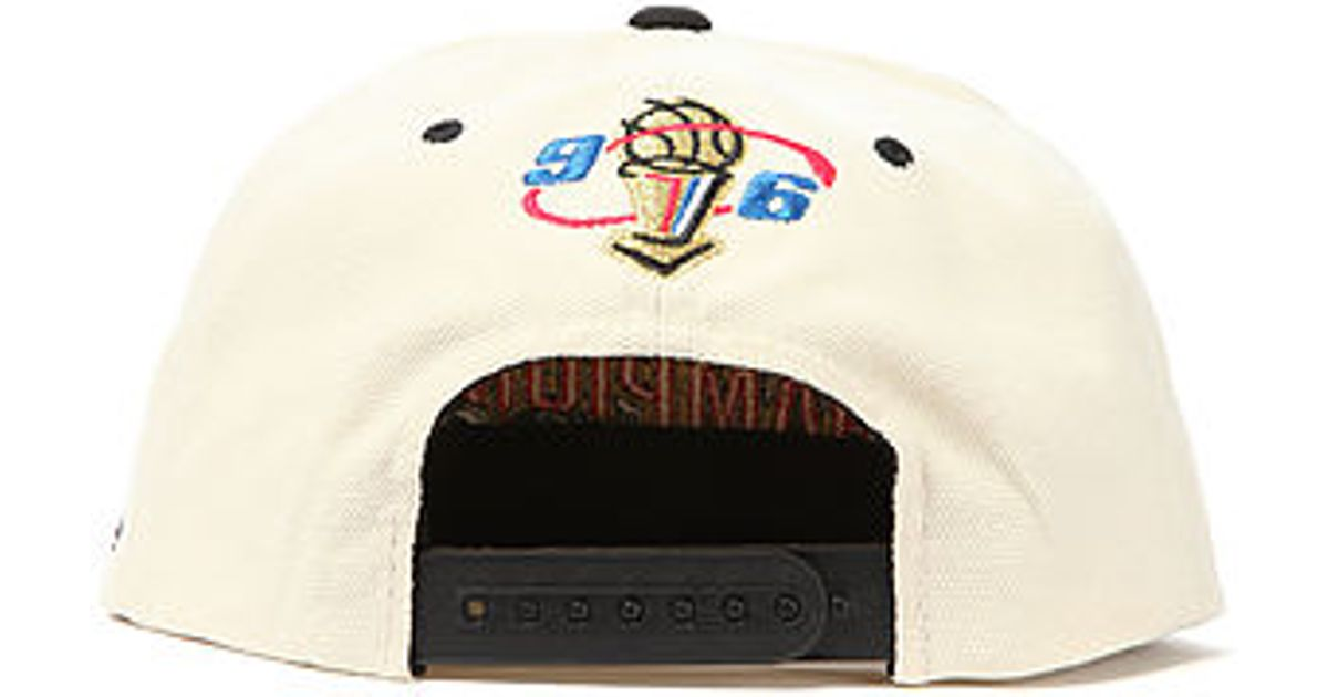 buy popular cc103 1bd12 Lyst - Mitchell   Ness The Chicago Bulls Nba Finals Champions Snapback Cap  in Natural for Men
