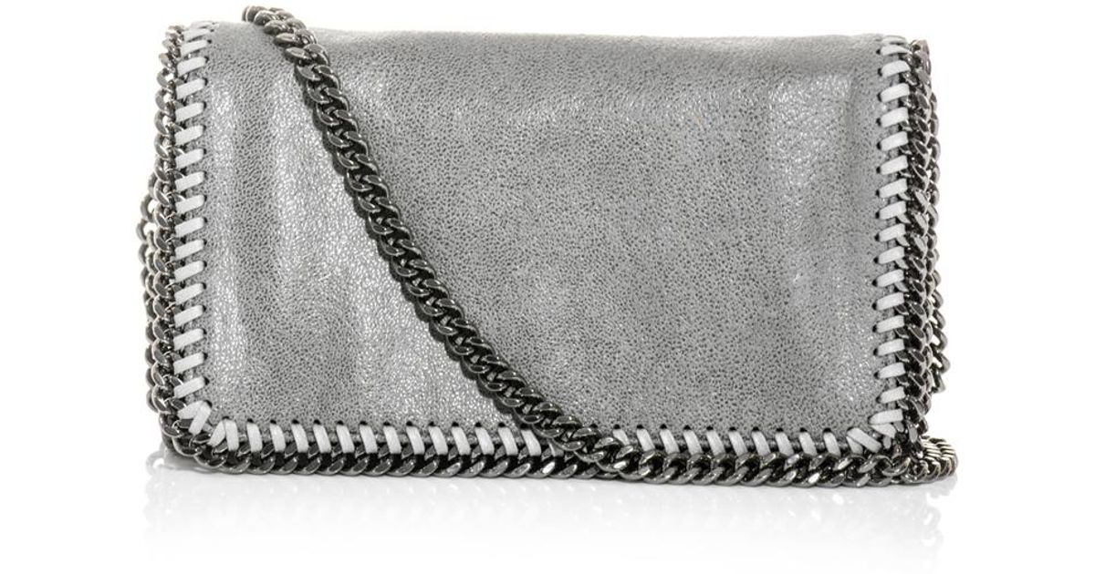 Lyst - Stella McCartney Falabella Cross Body Bag in Gray 79cbfe44aac6a