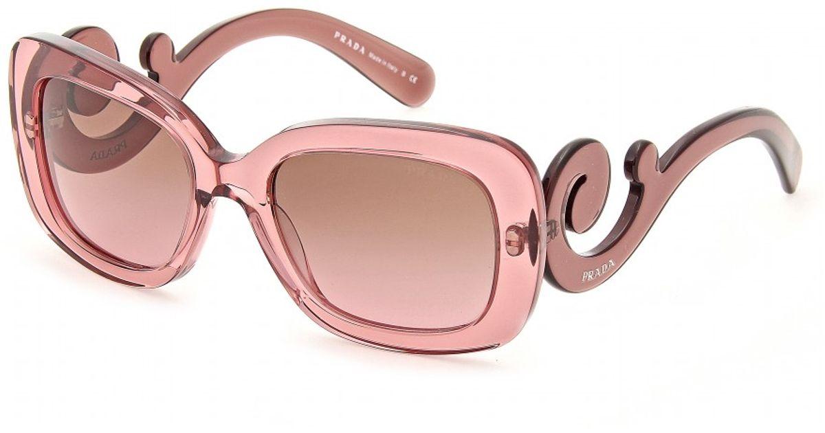 6ccc9840780 ... ireland lyst prada minimal baroque sunglasses in pink 92e8f fd927