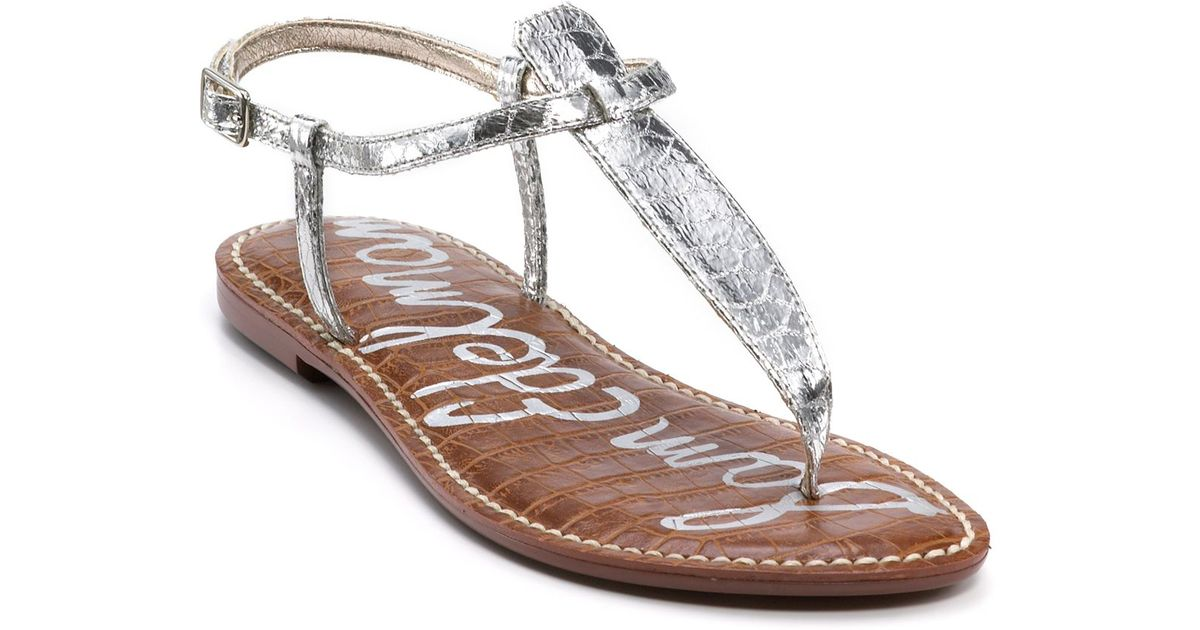 2725c9b61 In Metallic Edelman Sandals Sam Gigi Lyst Flat TlcKJ13F