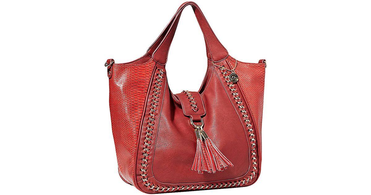 0226b4fe4b55 Lyst - Big Buddha Sybil Crossbody Bag in Red